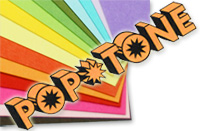 Pop-Tone paper array with logo