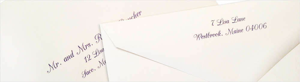 envelopes printed using LCI Paper's envelope printing and addressing service