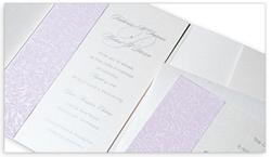 purple filigree metallic pocket fold