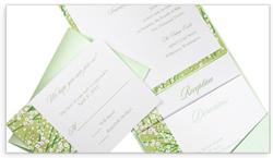 spring green layered pocket fold