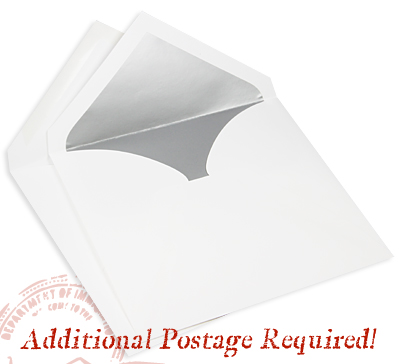 square double wedding envelopes require additional postage