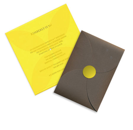 translucent vellum and smooth matte finish pochettes in square and rectangular sizes