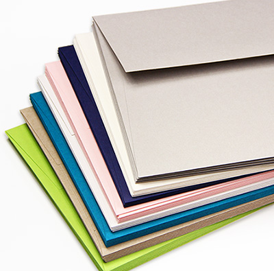 Colorful matte envelope for invites