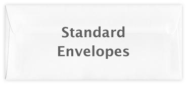 Standard wallet envelope