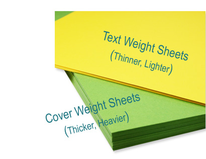 Text and cover weight scales are two different scales