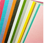 cardstock in a variety of colors, finishes, and paper textures