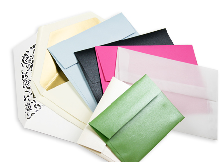 variety of invitation envelopes