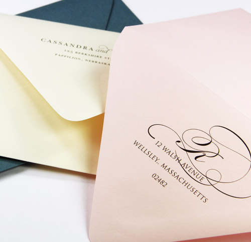 Order blank or professionally printed and addressed wedding envelopes - 48 hr turnaround