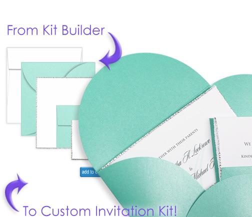 Oh the beauty of homemade wedding invitation kits