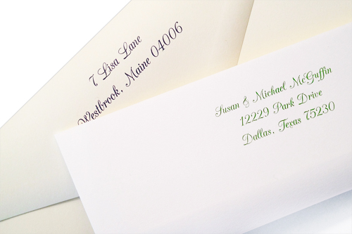 traditional wedding envelopes with printed back flaps