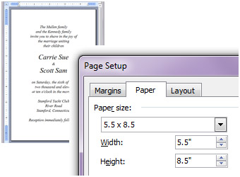 Word A9 document page size