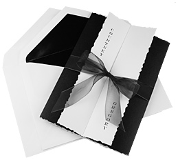 DIY Black Tuxedo Wedding Invitation Kit