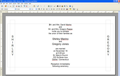 OpenOffice.org Writer template screen shot