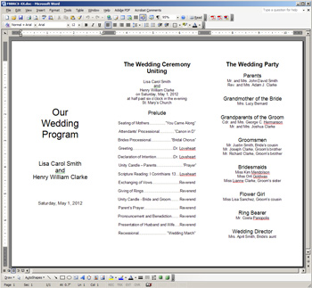 New easy to print foil frame trifold programs for Year end function program template