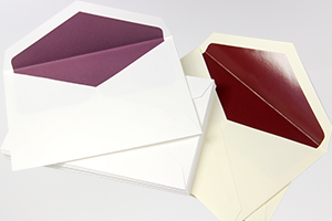 Mulberry & Burgundy Inner Lined Wedding Envelopes