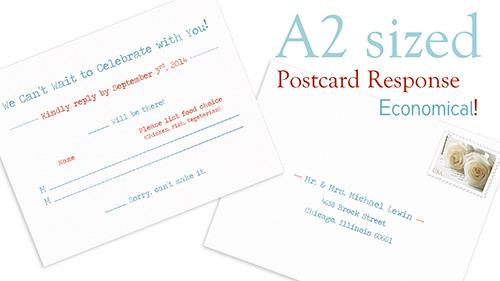 A2 postcard response