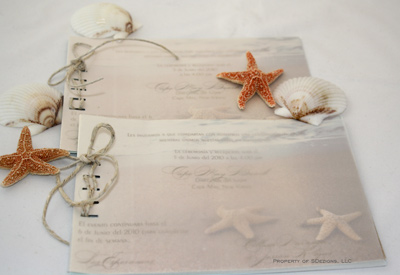 layered tied beach wedding invitation see how it s made