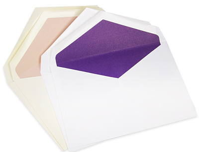 double wedding envelopes lined with metallic paper