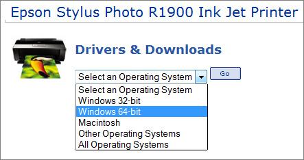 Epson R1900 printer driver download