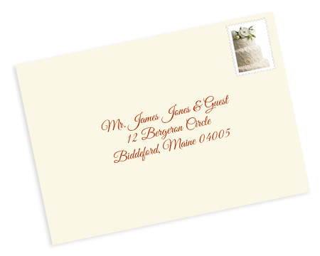 Properly address pocket invitations without inner envelopes for How to address wedding invitations single envelope