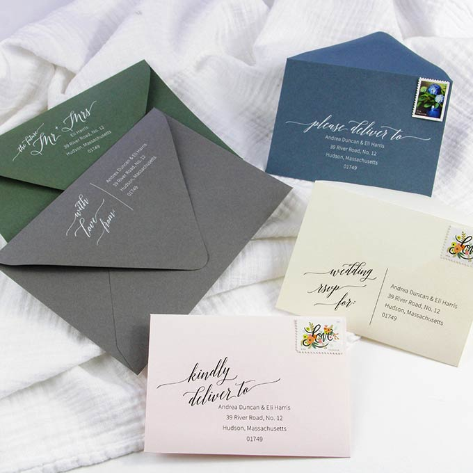 PS315-03 A7 Invitation /& A1 Reply Card Envelope Wedding Invitation Envelope Template