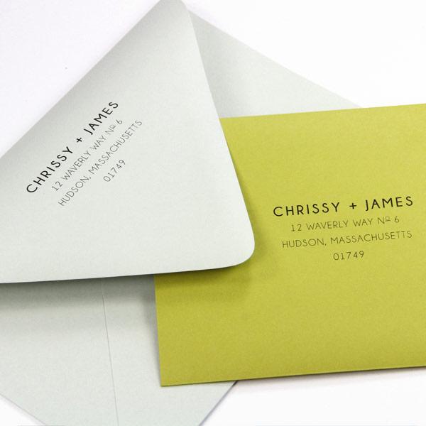Euro flap envelopes printed at home using print templates and instructions