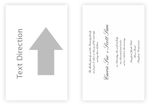 landscape printing text direction