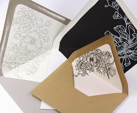 Hand lined euro flap envelopes