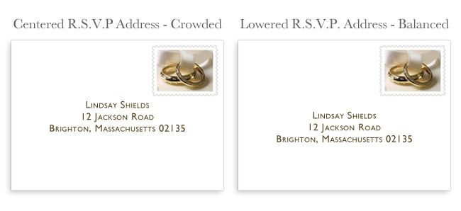 centered response envelope address vs. lowered address