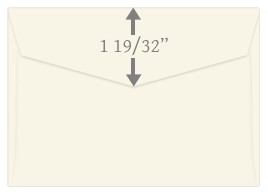 pointed flap response envelope flap dimensions