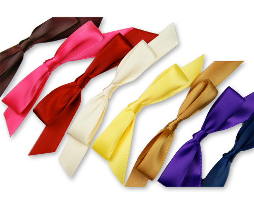 array of of self-stick pre-tied satin bows