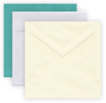 square envelopes pointed flap square flap