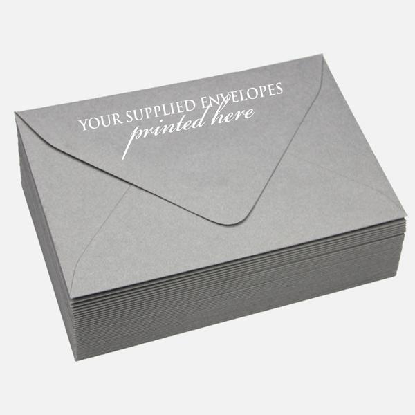 Supplied Envelope Printing