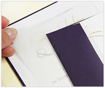 clear vellum insert on invitation card