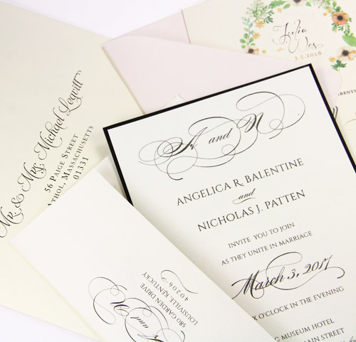 Learn about wedding envelope etiquette - addressing, assembly - from LCI Paper